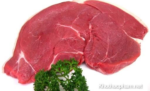thịt trưng bày